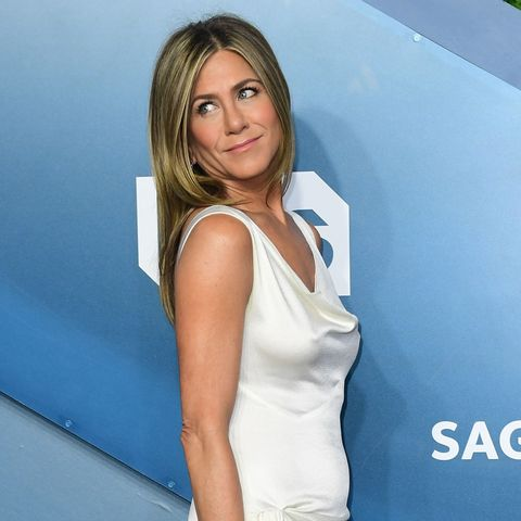 Jennifer Aniston Wears White Dress At Screen Actors Guild Awards In 2020