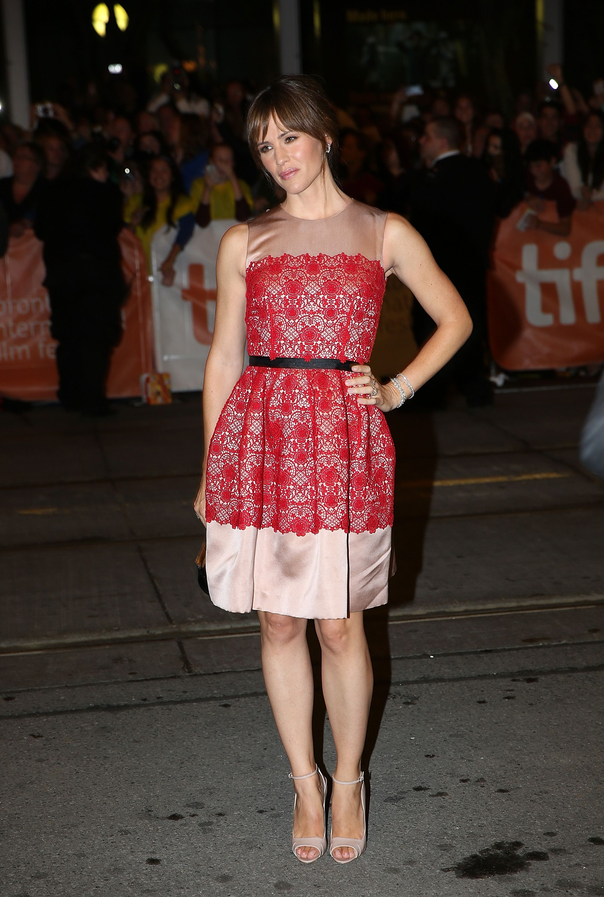 September 7, 2013 In a Dolce & Gabbana dress and Brian Atwood heels at the Dallas Buyers Club premiere during the 2013 Toronto International Film Festival in Toronto, Canada.