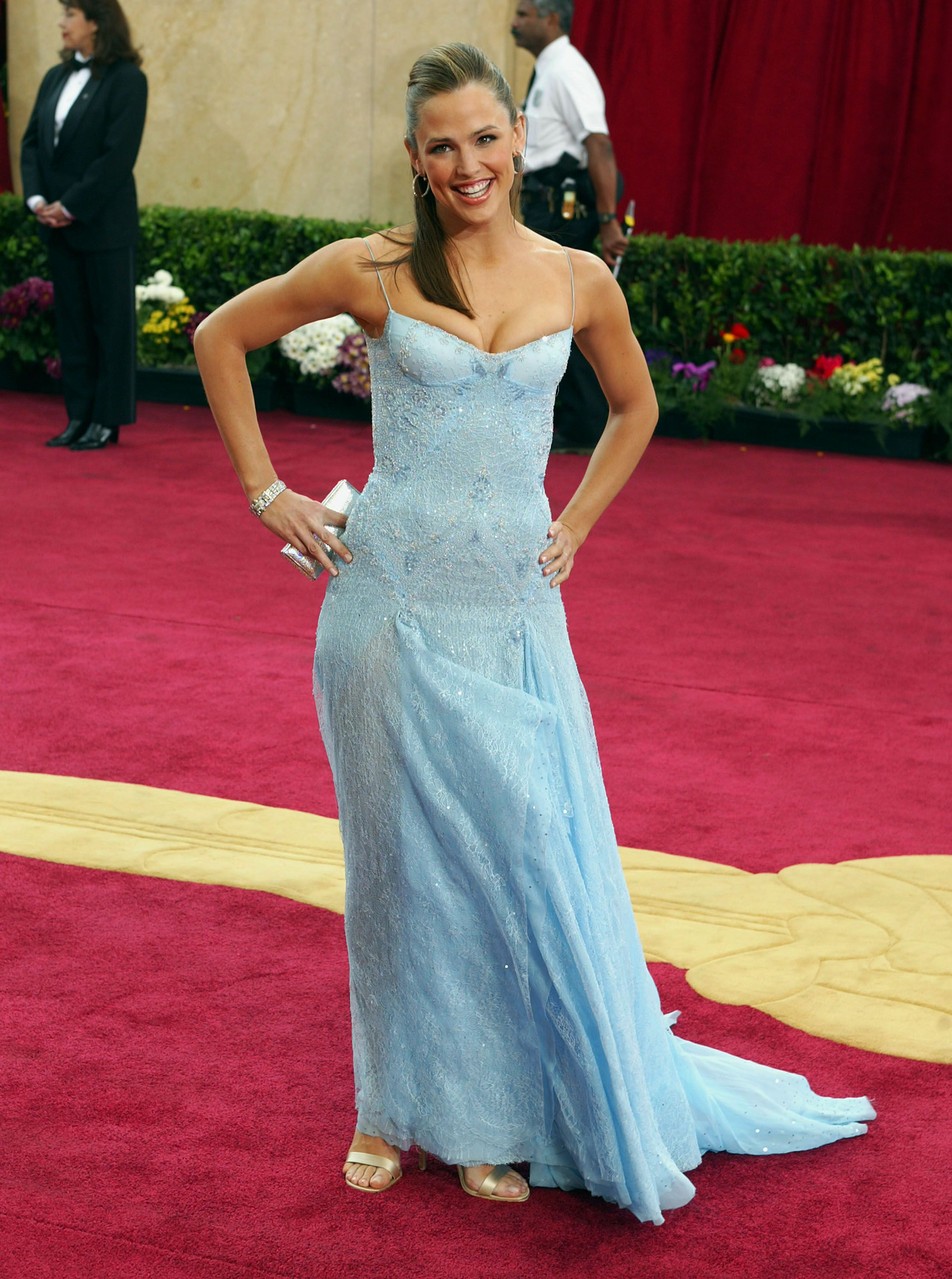 March 23, 2003 In Atelier Versace at the 75th annual Academy Awards in Hollywood.