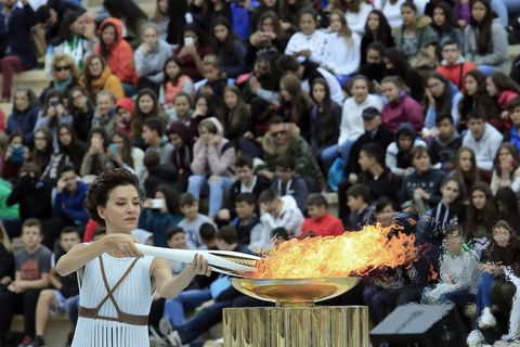 Lighting and Handover Ceremonies of the Olympic Flame for PyeongChang 2018