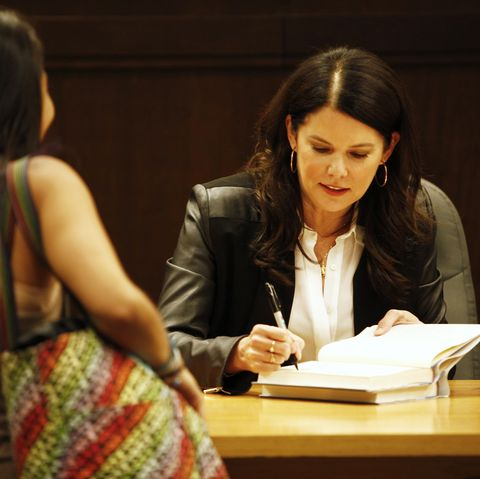 """lauren graham signs copies of his new book """"someday, someday, maybe"""""""