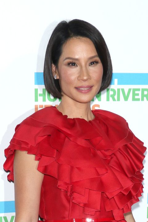 lucy liu   hairstyles for thin hair
