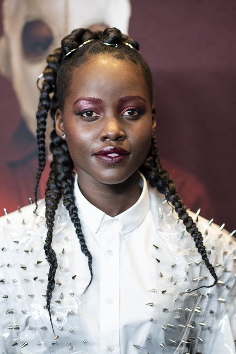 Back to School Makeup Ideas - Lupita Nyongo Colorful Brows
