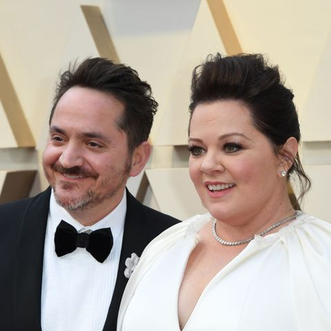 Melissa McCarthy and Ben Falcone Oscars red carpet