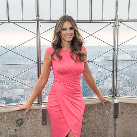 Elizabeth Hurley Lights Empire State Building In Honor Of Estee Lauder's 2018 Breast Cancer Campaign