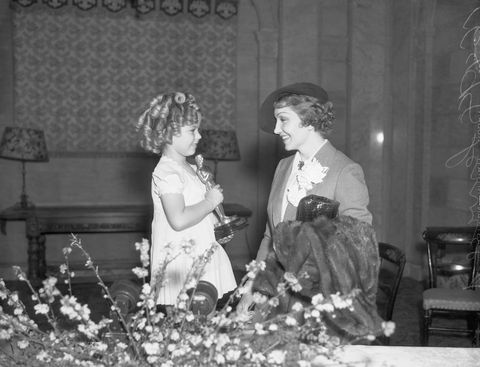 actresses shirley temple and claudette colbert