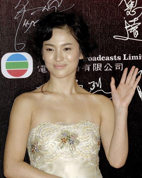 arrivals at the 26th hong kong film awards