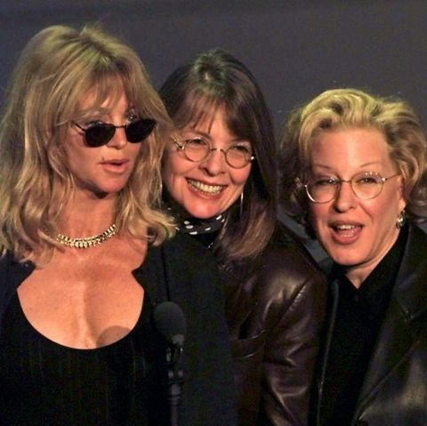 Actresses Goldie Hawn (L), Diane Keaton (C) and Be