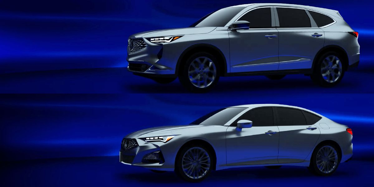 photos of the nextgen acura mdx and tlx have leaked in