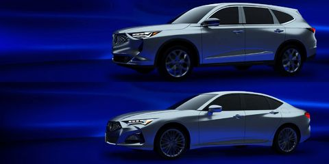 Photos Of The Next Gen Acura Mdx And Tlx Have Leaked In The