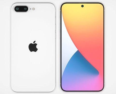 白色的手機和彩色的螢幕