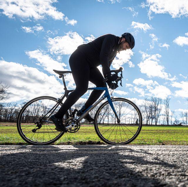 adam atkinson riding his bike in december 2020