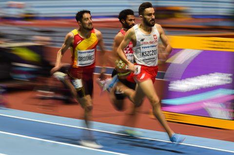 Saúl Ordóñez, lesionado en 800m