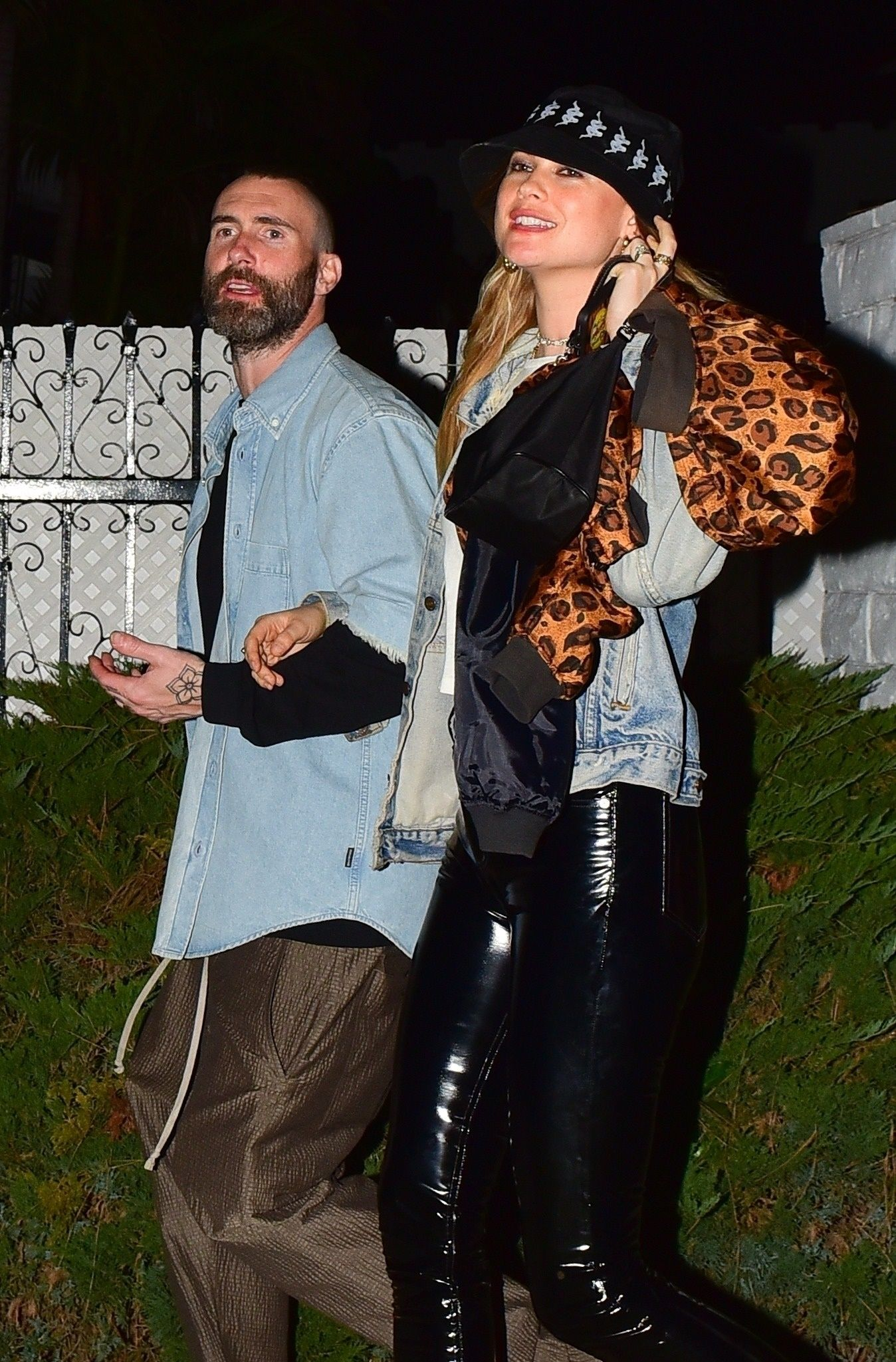 Adam Levine and His Wife Wore Practically Matching Outfits for a Rare Date Night