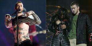 Adam Levine en Janet Jackson - Super Bowl