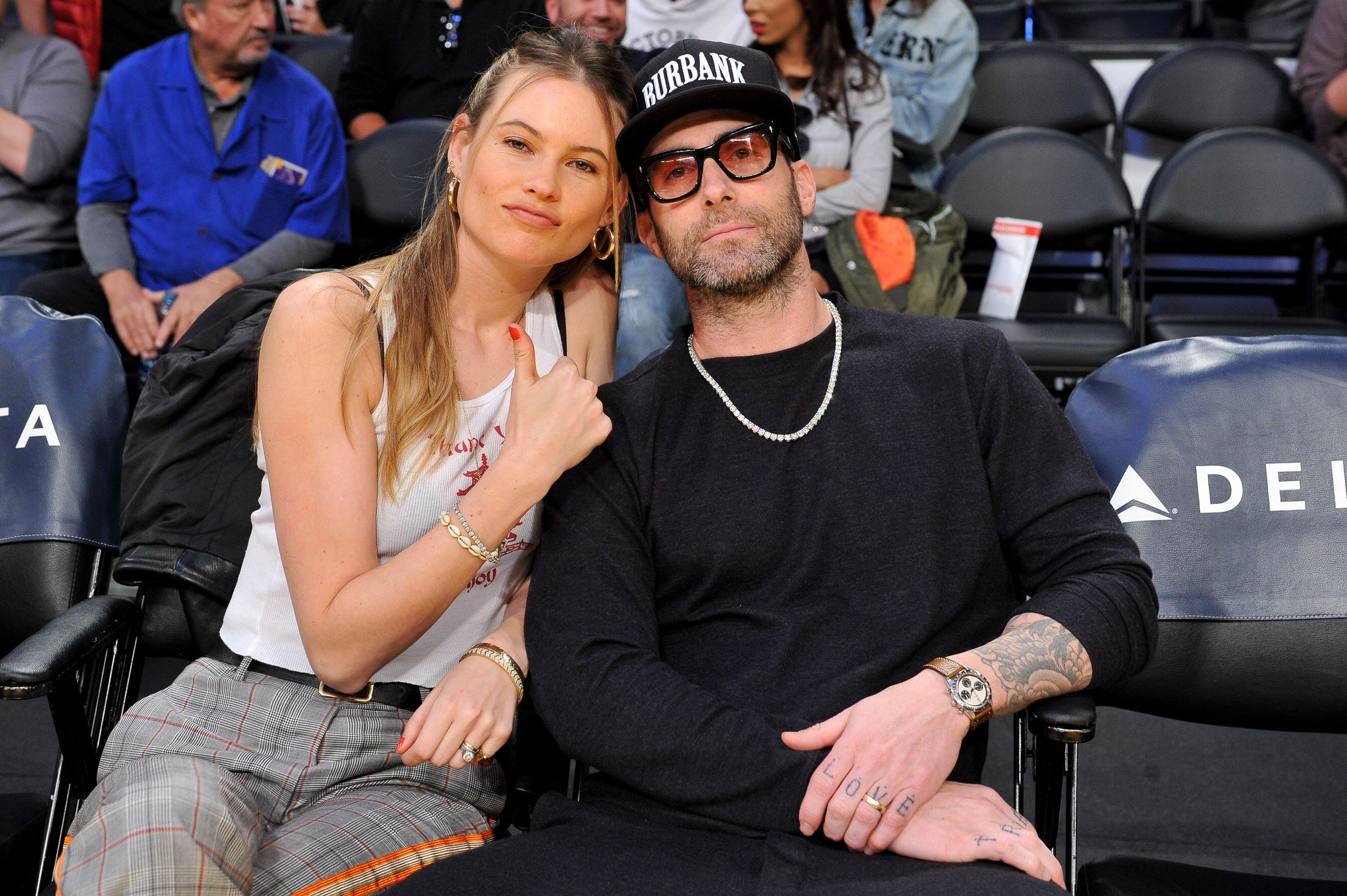 Adam Levine's Wife Gets Real About Motherhood in a Rare Photo of Their Daughters