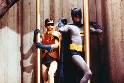 Adam West as Batman, Burt Ward as Robin, Batman TV Series 1966