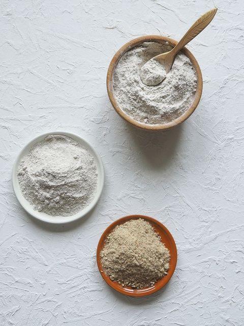 Adaptogens Ashwagandha in a bowl. Nutrition supplement.