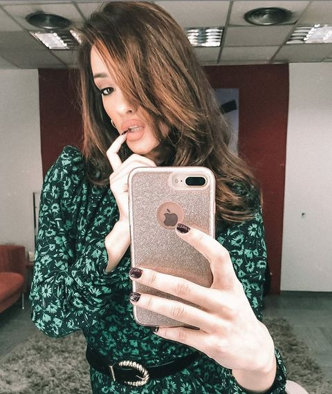 Selfie, Photography, Technology, Finger, Electronic device, Hand, Long hair, Gadget, Thumb,