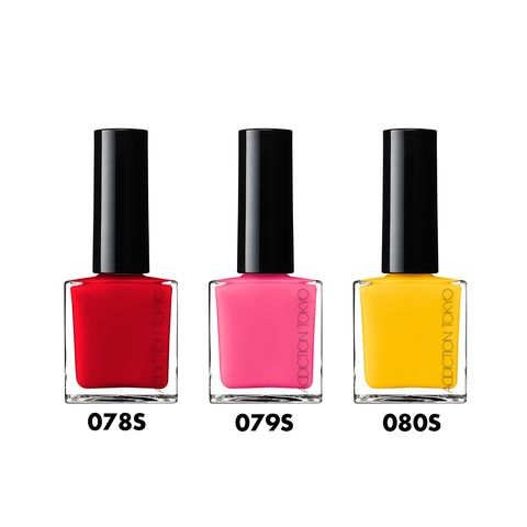 Nail polish, Red, Cosmetics, Orange, Nail care, Pink, Beauty, Product, Magenta, Yellow,
