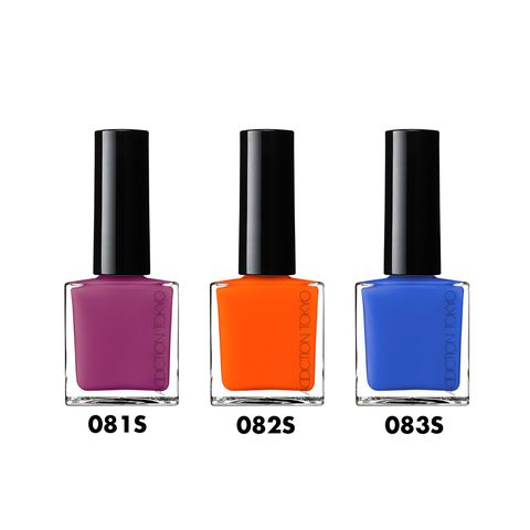 Nail polish, Cosmetics, Orange, Nail care, Violet, Beauty, Pink, Purple, Magenta, Material property,