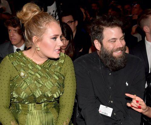 Adele and Simon Konecki at the Grammys in 2017