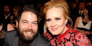 Simon Konecki en Adele tijdens de Grammy Awards