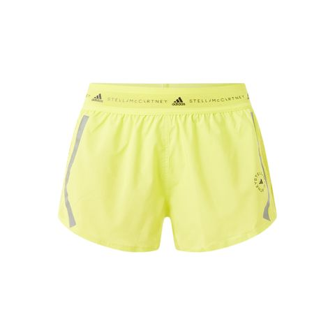 adidas by stella mccartney truepace trainingsshorts mesh geel short broekje korte broek