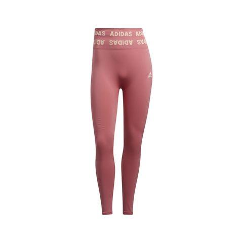 adidas aeroknit high rise legging roze naadloos dames hardloopkleding