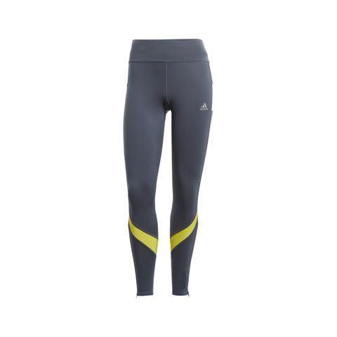 adidas own the run legging hardlooplegging hardloopkleding broek grijs geel