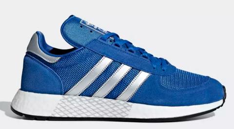 Shoe, Footwear, Outdoor shoe, Blue, Cobalt blue, Sneakers, White, Walking shoe, Electric blue, Product,