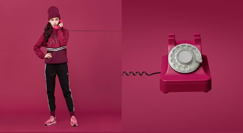 Pink, Red, Magenta, Fashion, Watch, Fashion accessory, Advertising, Brand, Graphic design,