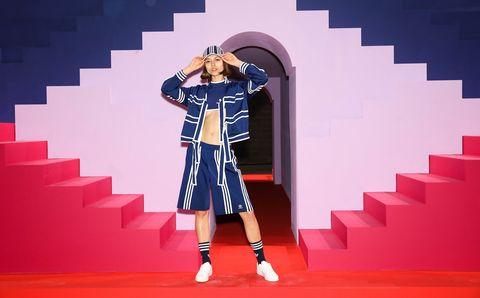 Ji Won Choi, adidas, adidas Originals, 聯名, 倫敦時裝週, 三葉草, 時尚, fashion, street style, 街頭, 春夏, 運動套裝, 泳衣, 愛迪達,運動穿搭
