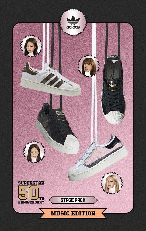 adidas Originals 找來韓國人氣女團BLACKPINK 代言50週年 Stage 系列。