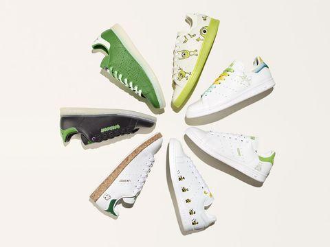 adidas originals x disney stan smith forever 全新系列白色球鞋形象照