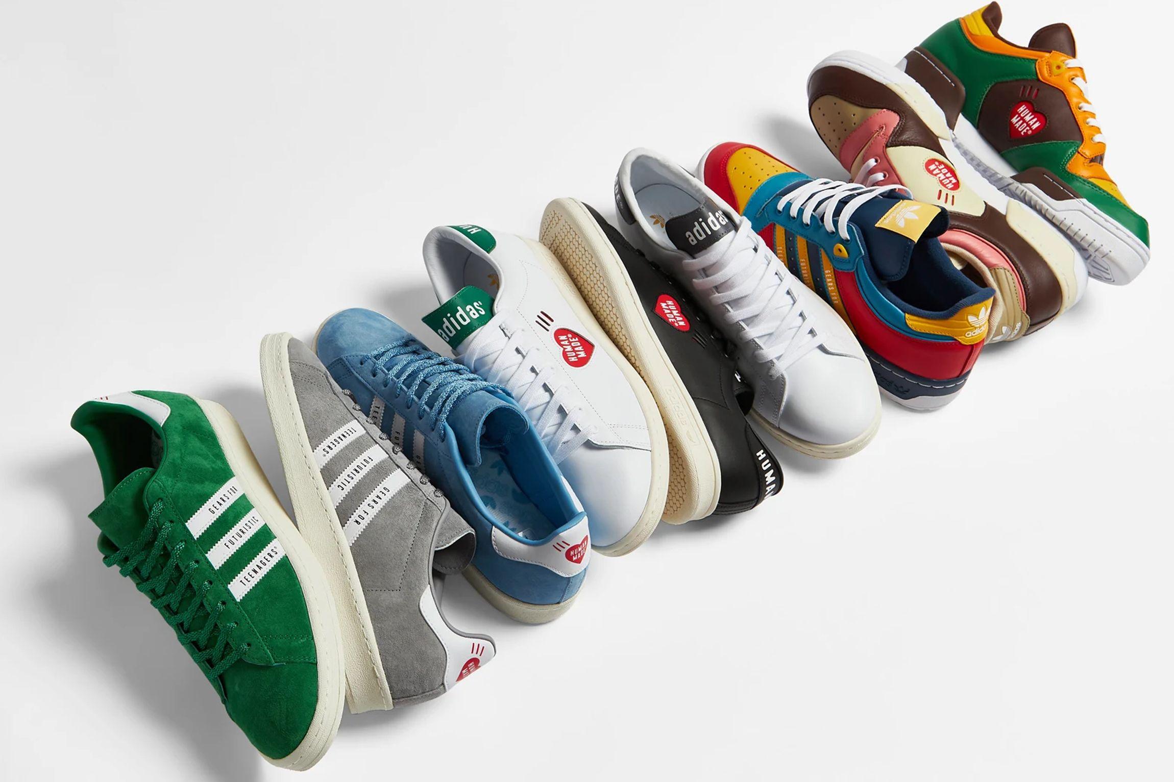Hormiga Observar Activar  Adidas y Human Made: las zapatillas más coloridas del verano