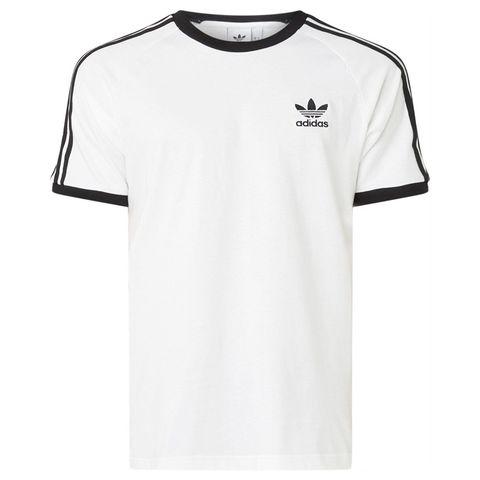 adidas t shirt met logoprint en strepen