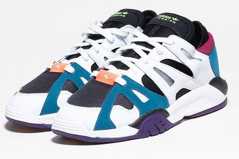 Footwear, Sneakers, Shoe, White, Blue, Violet, Product, Purple, Athletic shoe, Sportswear,