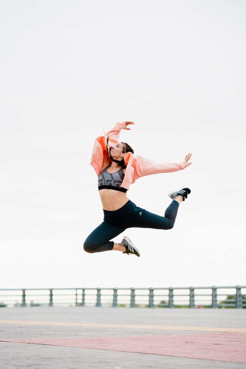 White, Red, Leg, Jumping, Joint, Photography, Human body, Happy, Recreation, Leisure,
