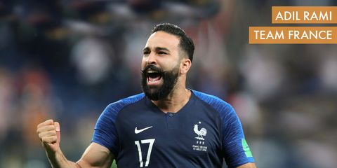 Adil Rami of France at the 2018 World Cup