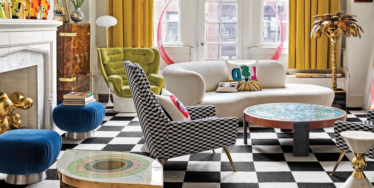 Inside Jonathan Adler And Simon Doonan S Glitz West Village Home Makeover Tour The