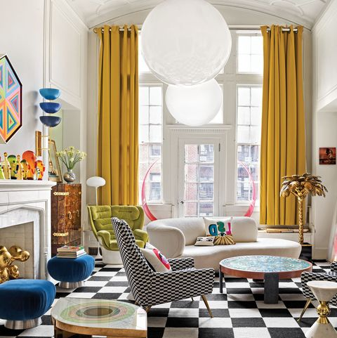 Jonathan Adler And Simon Doonan Give Their Greenwich Village Home A Glitz Makeover