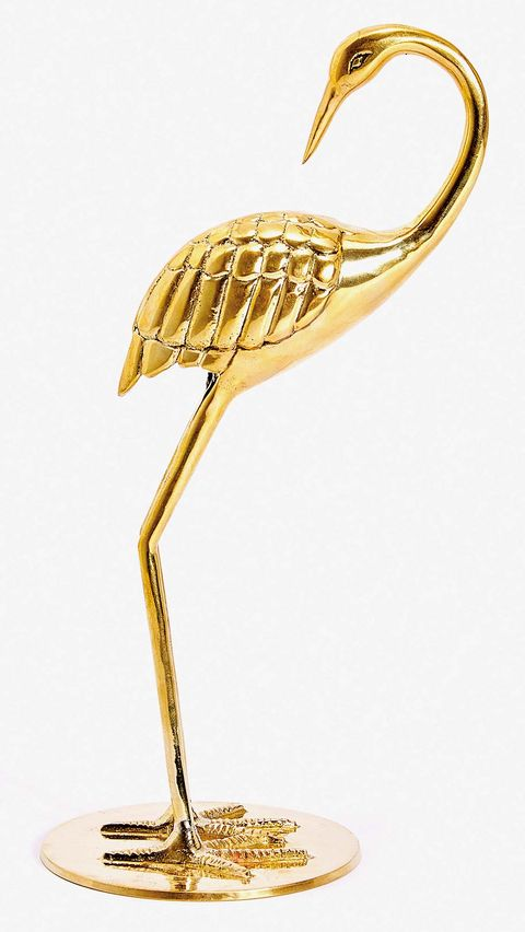 Heron, Bird, Brass, Metal, Fashion accessory, Pelecaniformes, Stork,