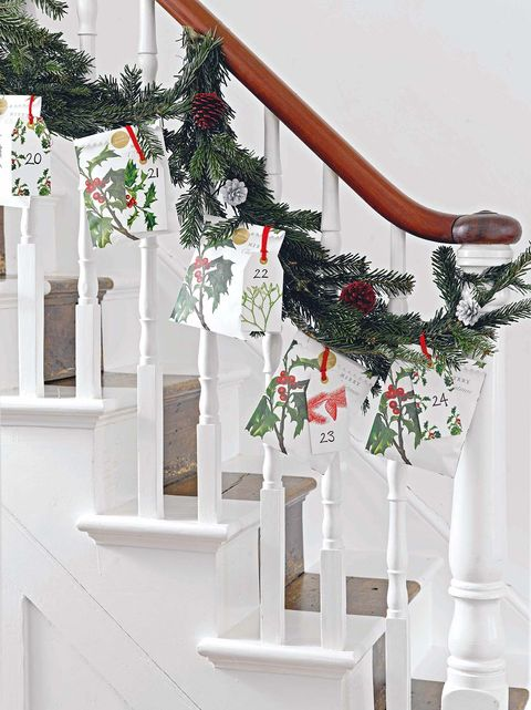 White, Product, Christmas decoration, Stairs, Tree, Plant, Christmas stocking, Room, Architecture, Flowerpot,