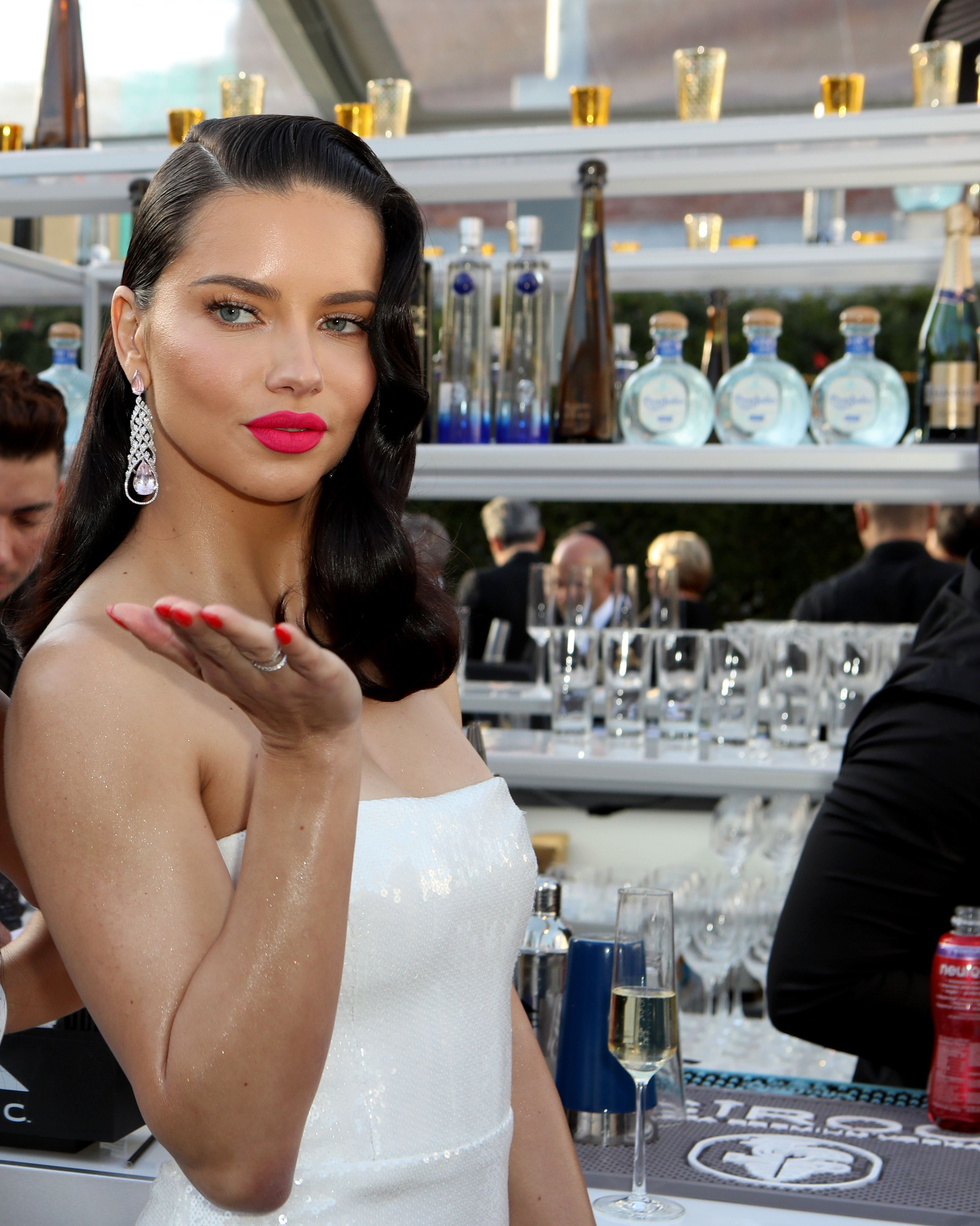 Adriana Lima Adriana Lima attends the 27th annual Elton John AIDS Foundation Academy Awards viewing party celebrating EJAF and the 91st annual Academy Awards on February 24.