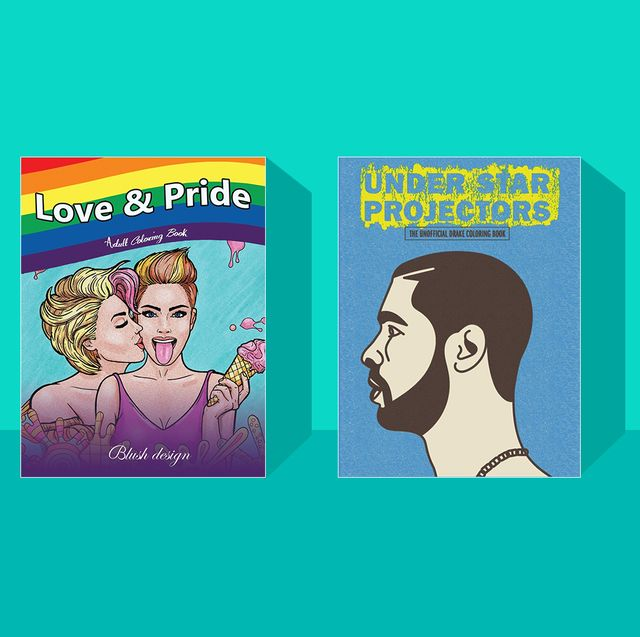 adult coloring books love  pride, under star projectors, 24 shades of business, stoner