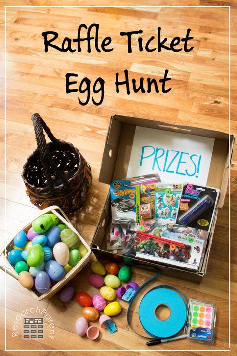 adult easter egg hunt raffle ticket