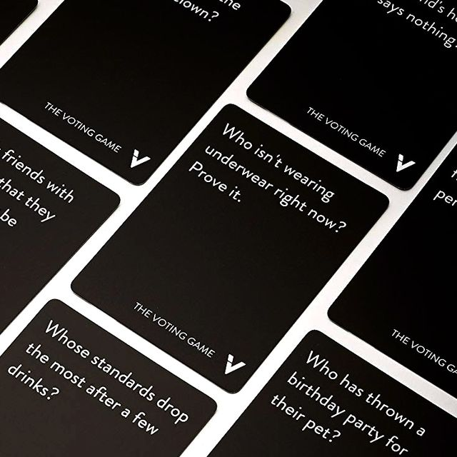 the voting game cards