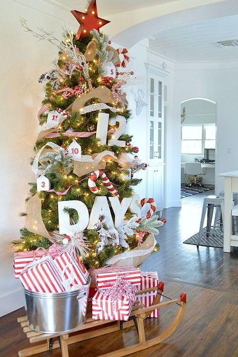 christmas tree decorations advent calendar