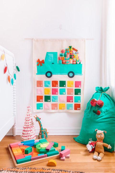 advent calendar ideas felt truck